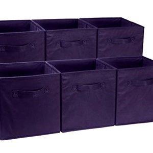 Foldable Storage Black Bins Cubes Organizer